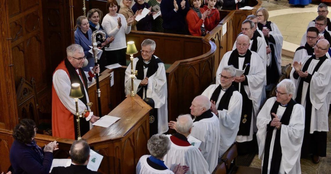 Bishop David is installed in Down Cathedral